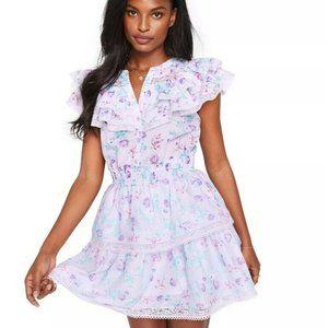LoveShackFancy Lou Ruffle Mini Dress 3X